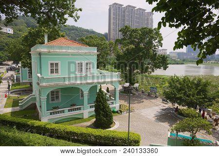 Macau, China - September 12, 2013: View To The Traditional Portuguese House In Taipa Village, Macau.