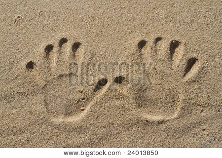 Menschliche Hand Drucke