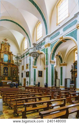 France, Annecy - May 01, 2018: Interior View Of The Altar. Church Of San Francesco Di Salesl Is The