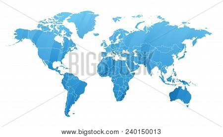 Land Map Silhouette Geography Earth Worldwide Global