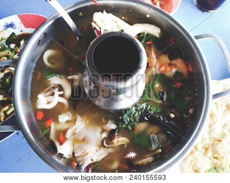 Spicy Tom Yam Seafood Soup., Thai Food., Tom Yum Koong