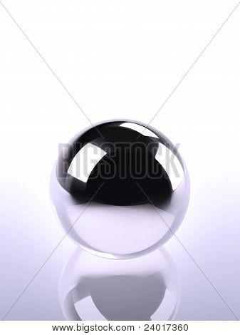 Chrome Ball In Violet Light
