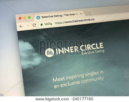 Amsterdamn, Netherlands - May 11, 2018: Official Website Of Theinnercircle.com A Dating Website. Thi