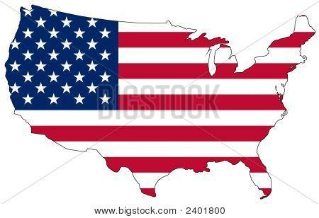 Karte von den Vereinigten Staaten von Amerika