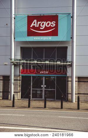 May 4th, 2018, Cork, Ireland - Argos Store At The Retail Park And Mahon Point Shopping Centre: A Bri