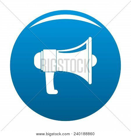 One Megaphone Icon. Simple Illustration Of One Megaphone Vector Icon For Any Design Blue