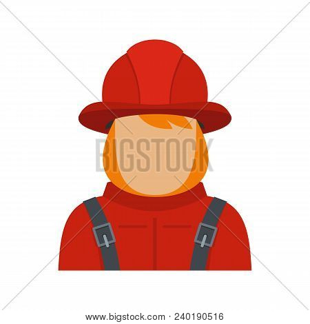 Firefighter Icon. Flat Illustration Of Firefighter Vector Icon For Web