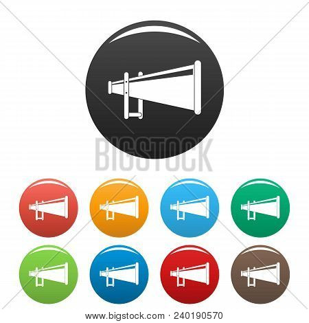 Portable Megaphone Icon. Simple Illustration Of Portable Megaphone Vector Icons Set Color Isolated O