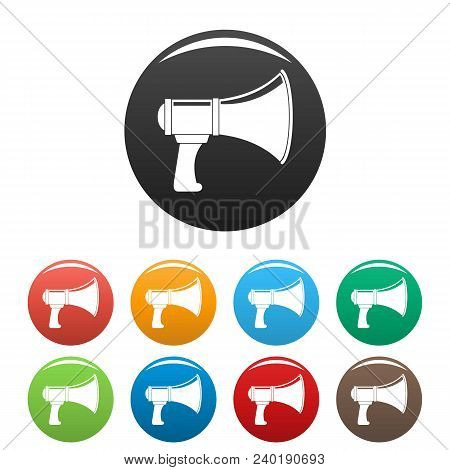 Noise Of Megaphone Icon. Simple Illustration Of Noise Of Megaphone Vector Icons Set Color Isolated O