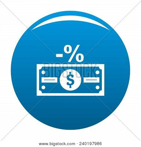 Pay Tax Icon. Simple Illustration Of Pay Tax Vector Icon For Any Design Blue