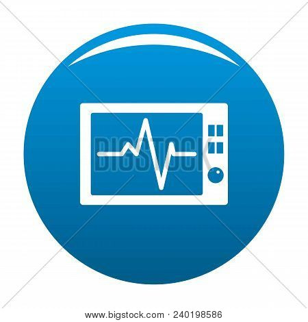 Ekg Icon. Simple Illustration Of Ekg Vector Icon For Any Design Blue