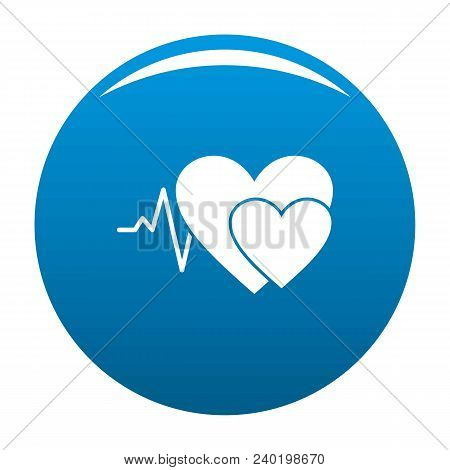 Cardiology Icon. Simple Illustration Of Cardiology Vector Icon For Any Design Blue