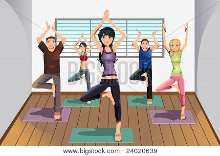 Yoga-Studenten im Yoga-Studio