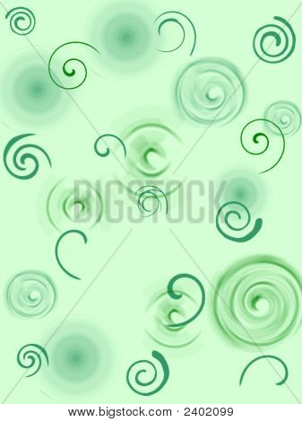 Green Swirls Background