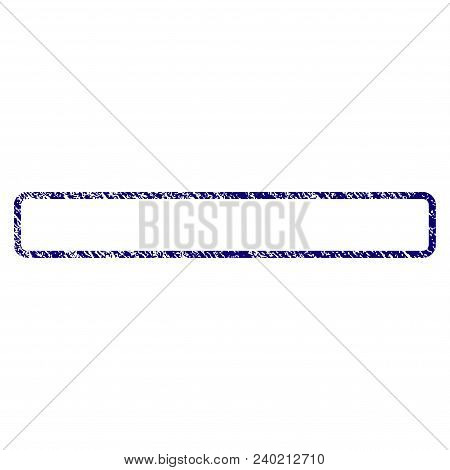 Rounded Rectangle Frame Grunge Textured Template. Vector Draft Element With Grainy Design And Corrod