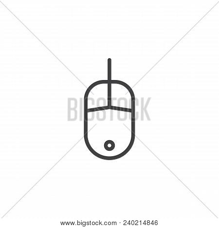 Computer Mouse Outline Icon. Linear Style Sign For Mobile Concept And Web Design. Mouse Click Line V
