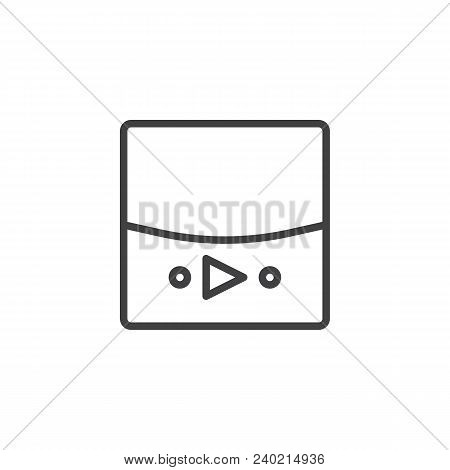 Video Player Outline Icon. Linear Style Sign For Mobile Concept And Web Design. Music Player Simple