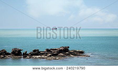 The Beautiful Blue Turquoise  Coastal Waters Of  Broome Western Australia