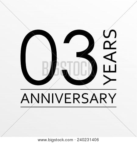 3 Years Anniversary Emblem. Anniversary Icon Or Label. 3 Years Celebration And Congratulation Design