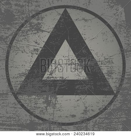 Grunge Triangles With High Detailed Distress Texture. Grunge Background.  Retro Background. Vintage