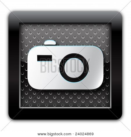Digital camera metal icon