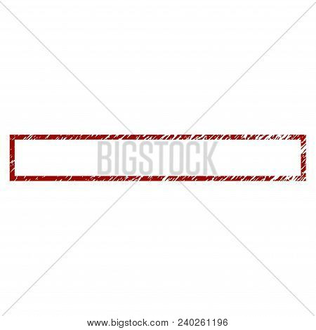 Rectangle Frame Distress Textured Template. Vector Draft Element With Grainy Design And Corroded Tex