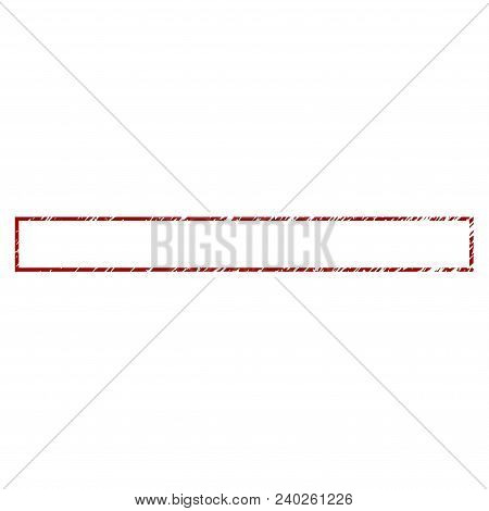 Rectangle Frame Distress Textured Template. Vector Draft Element With Grainy Design And Distressed T