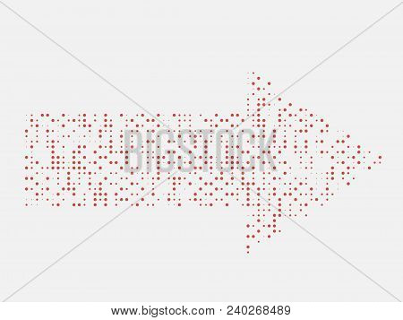 Linear Dots Arrow . Arrow Design . Vector Arrow Background . Arrow Icon . Arrow Logo.