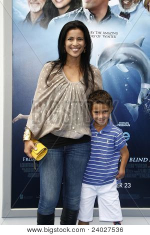 LOS ANGELES - SEP 17: Bahar Soomekh; son Ezra at the Warner Bros.' World Premiere of 'Dolphin Tale' at The Village Theater on September 17, 2011 in Los Angeles, California
