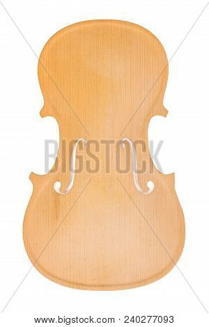Raw Violin Body Or Belly Isolated On White Background