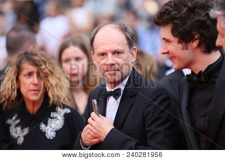 Denis Podalydes attends the screening of 'Sorry Angel' during the 71st annual Cannes Film Festival at Palais des Festivals on May 10, 2018 in Cannes, France.