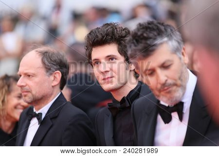 Vincent Lacoste, attends the screening of 'Sorry Angel' during the 71st annual Cannes Film Festival at Palais des Festivals on May 10, 2018 in Cannes, France.