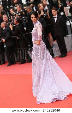 Mallika Sherawat  attends the screening of 'Sorry Angel' during the 71st annual Cannes Film Festival at Palais des Festivals on May 10, 2018 in Cannes, France.