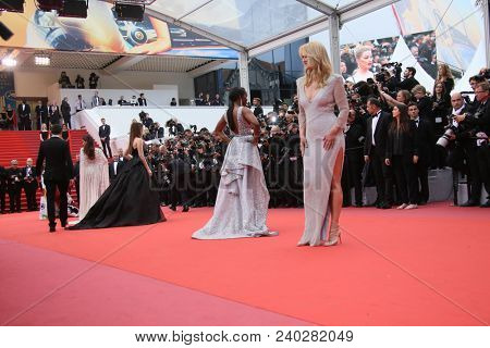 Atmosphere  attends the screening of 'Sorry Angel' during the 71st annual Cannes Film Festival at Palais des Festivals on May 10, 2018 in Cannes, France.