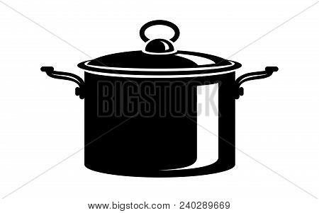 Frying Hot Saucepan Cook Pan Icons. Simple Illustration Of Frying Hot Saucepan Cook Pan Vector Icon