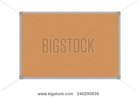 Vector Illustration Of A Cork Board In An Aluminum Frame - With Space For Your Text