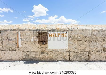 Gallipoli, Apulia, Italy - A Dead Old Letter Box At The Historical Town Wall