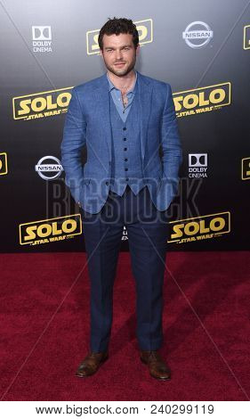 "LOS ANGELES - MAY 10:  Alden Ehrenreich arrives to the ""Solo: A Star Wars Story"" World Premiere  on May 10, 2018 in Hollywood, CA"