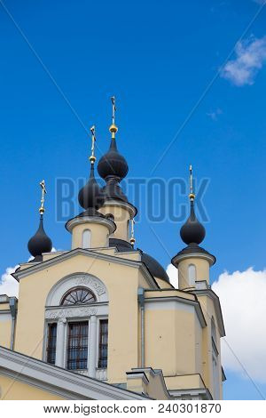 The Church Of The Protection Of The Holy Virgin In Krasnoye Selo. Orthodox Church Of The Epiphany De