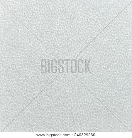 Closeup Of Seamless White Leather Texture Background With Beige