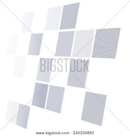 Abstract Hi-tech Whie Background In Perspective. Futuristic Digital Technology Background. Vector Il