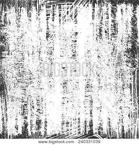 Textured Background. Grunge Texture In Black And White. Vector Template. Distress Vector Texture. Te