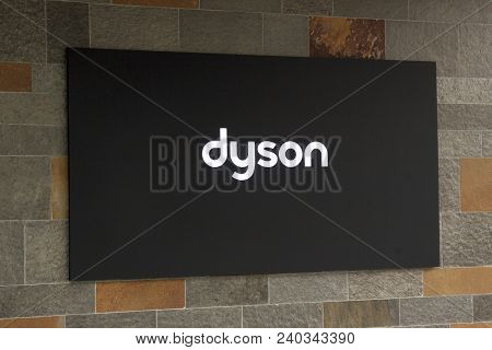 Letters Dyson On A Building