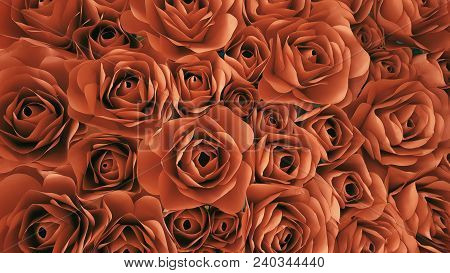 The Paper Roses Retro Color For Background