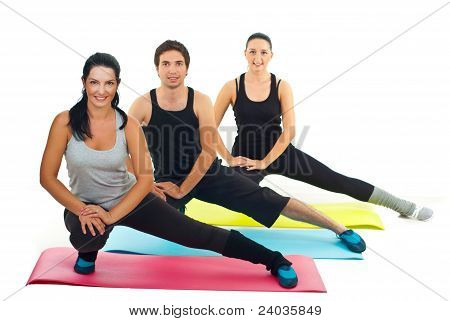 Healthy Group Of People Doing Fitness Exercises
