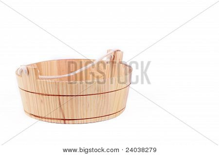 small wooden washtube