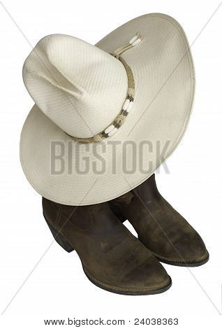 Real Cowboy Hat N Boots
