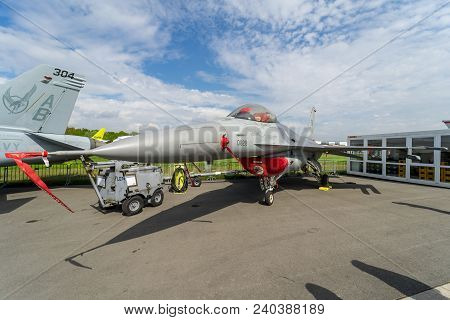 Berlin, Germany - April 25, 2018: Multirole Fighter, Air Superiority Fighter General Dynamics F-16 F
