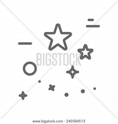 Stars Logo Made In Trendy Line Stile Vector. Space Series. Space Exploration And Adventure Symbol. E