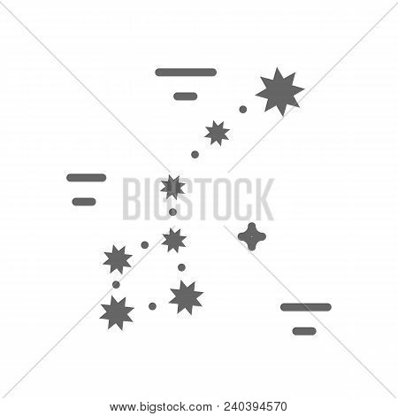 Constellation Logo Made In Trendy Line Stile Vector. Space Series. Space Exploration And Adventure S